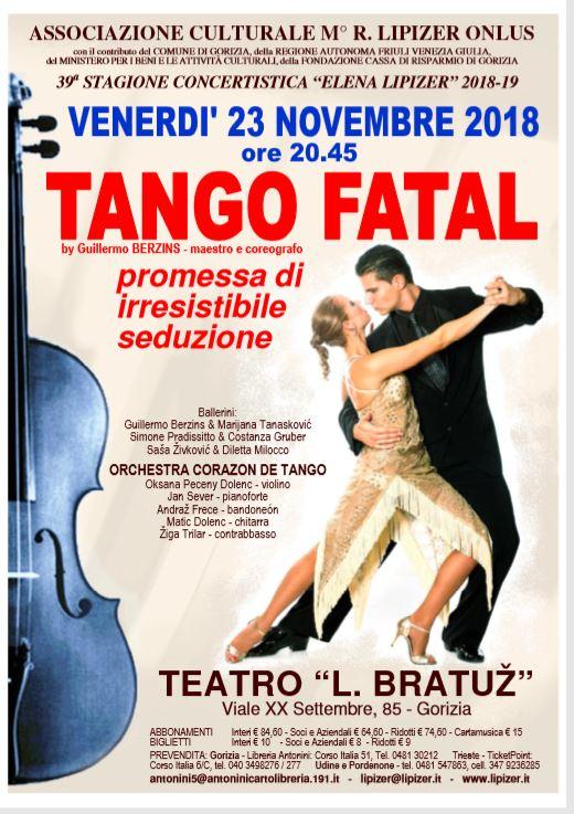 """Tango Fatal - Stagione Concertistica """"Elena Lipizer"""" 2018-2019"""