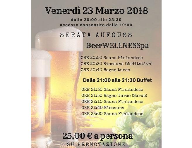 "Serata Aufguss ""BeerWELLNESSpa"""