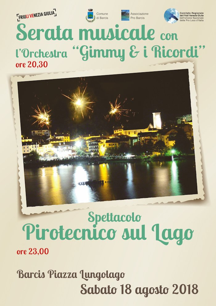 """SERATA MUSICALE CON L'ORCHESTRA """"GIMMY & I RICORDI"""""""