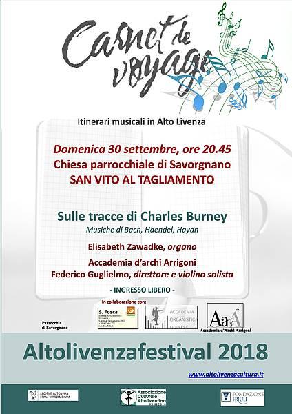 Sulle tracce di Charles Burney - Musiche di Haendel, Bach, Haydn