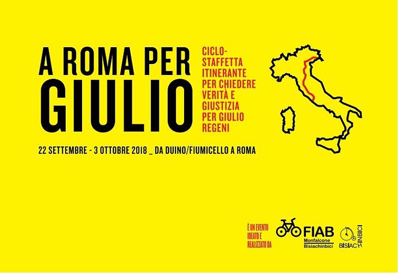 A Roma per Giulio - Ciclostaffetta Duino - Roma