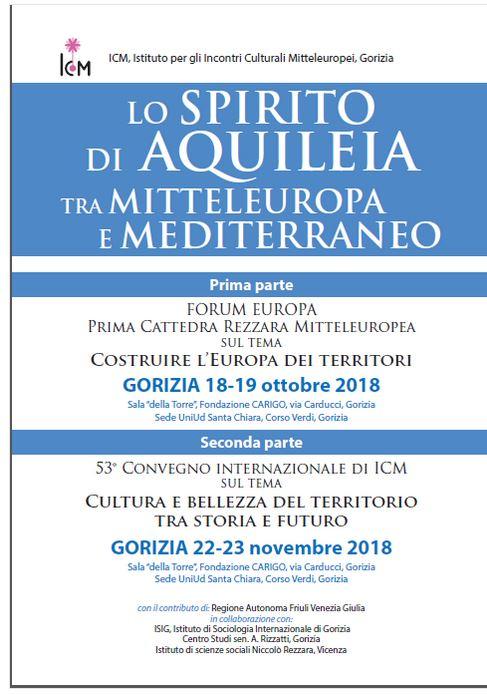 "Lo 'Spirito di Aquileia' tra Mitteleuropa e Mediterraneo""  ICM Gorizia"