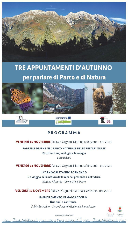 Tre appuntamenti d'autunno per parlare di Parco e di Natura