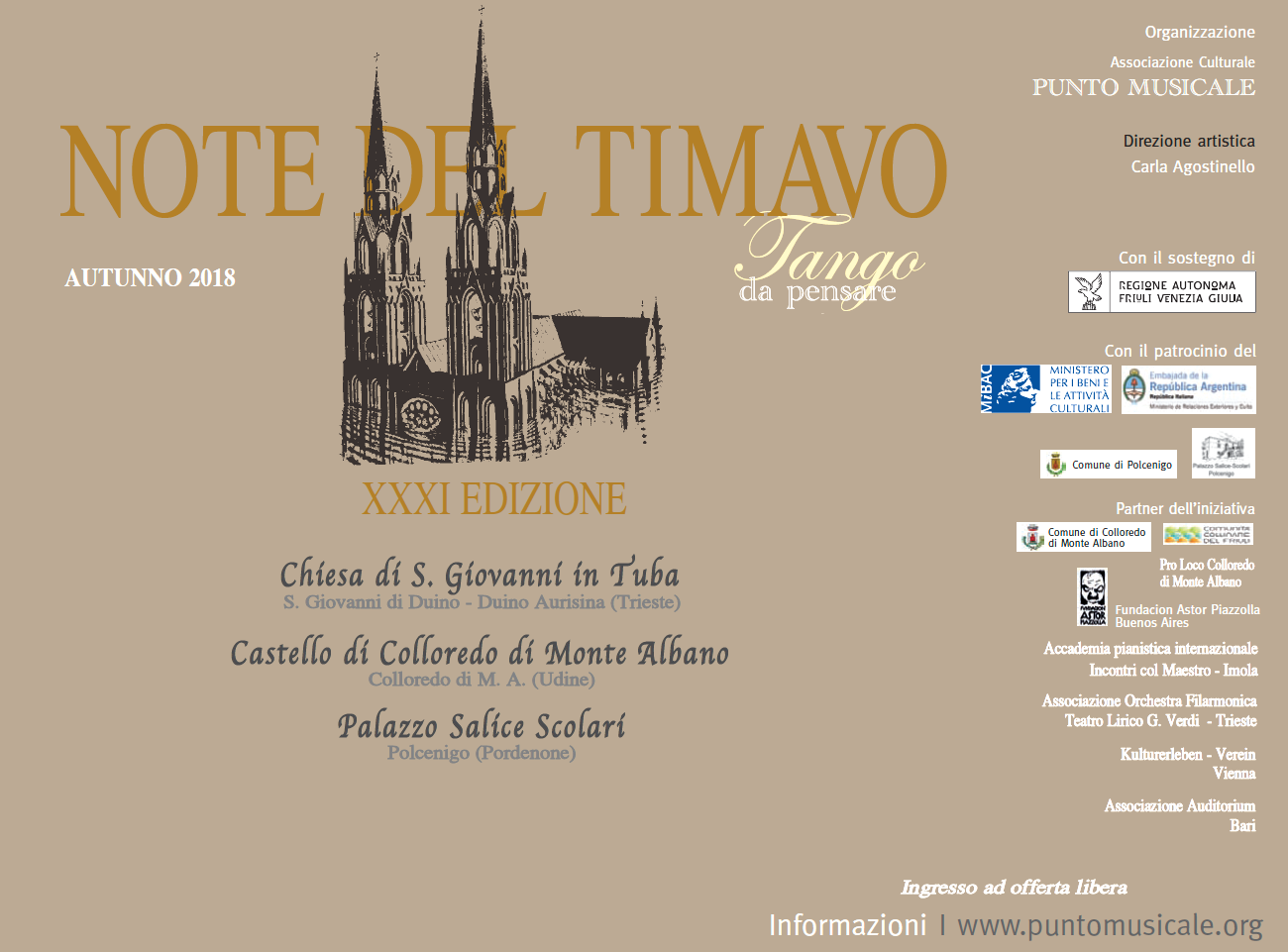 "Note del Timavo 2018: Jazz & Classe"" finestra sul jazz"