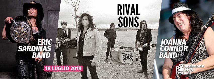 28° Pordenone Blues Festival. Rival Sons + Eric Sardinas + Joanna Connor