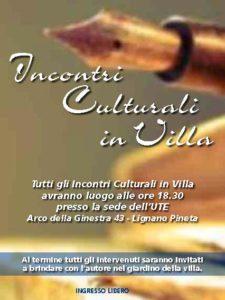 Incontri Culturali in Villa -