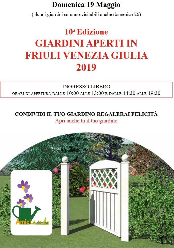 Giardini aperti in Friuli Venezia Giulia 2019
