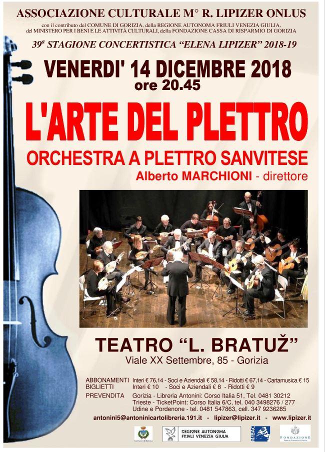 """L'arte del plettro - Orchestra a Plettro Sanvitese - Stagione Concertistica """"Elena Lipizer"""" 2018-2019"""