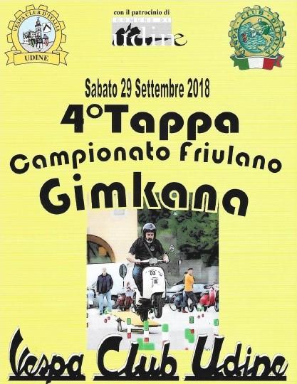 Gimkana. 4° Tappa del campionato friulano di Gimkana.