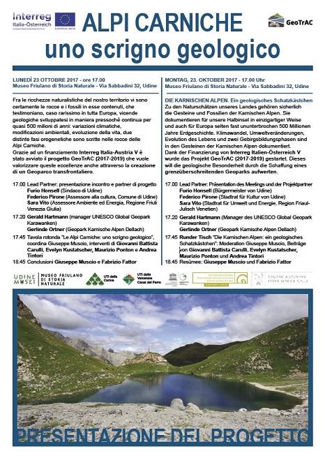 Geoparco Transfrontaliero delle Alpi Carniche - GeoTrAC