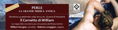 Perle la grande musica antica: il cornetto di Wiliam