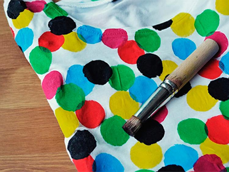 Parete A Pois Fai Da Te : Laboratorio magliette colorate