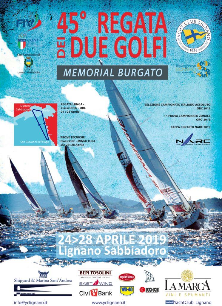 45^REGATA DEI DUE GOLFI – Trofeo Memorial Burgato