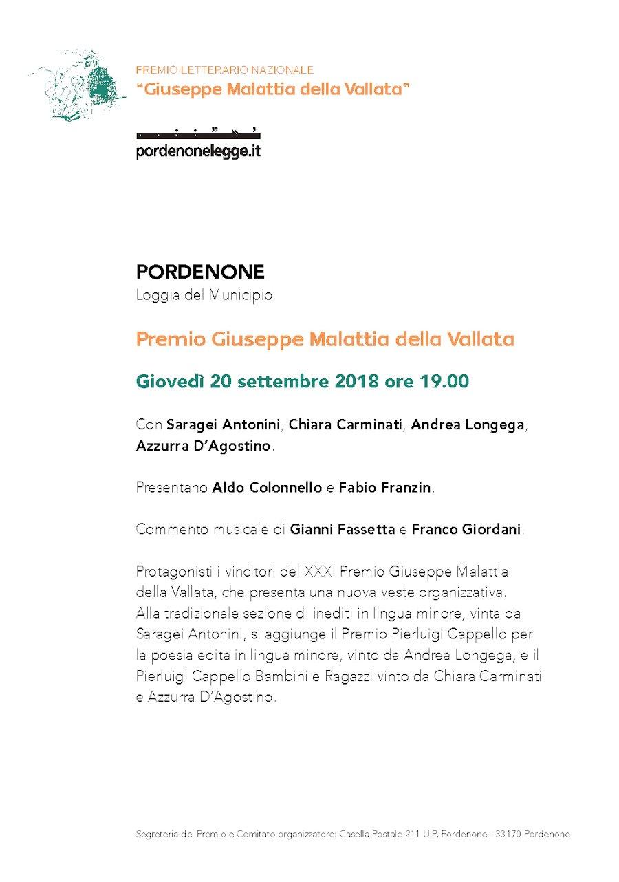 Premio Giuseppe Malattia della Vallata
