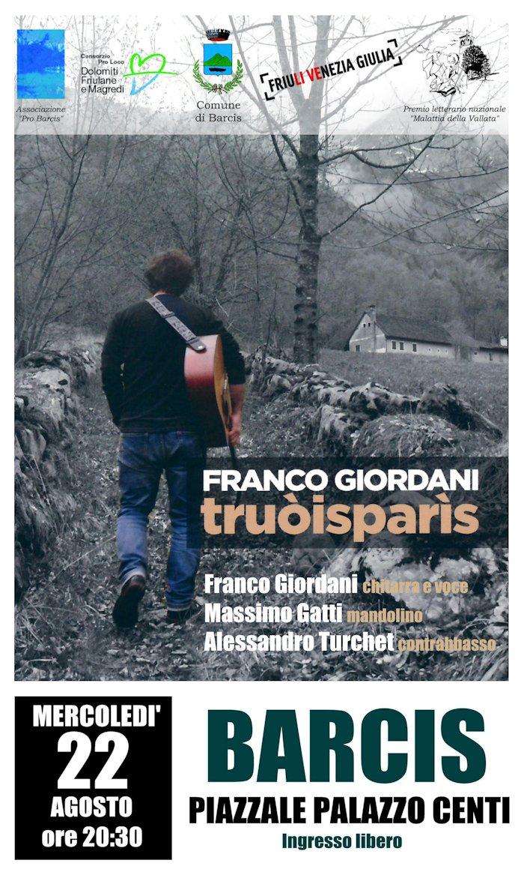 """PRESENTAZIONE DEL CD """"TRUÒISPARÌS"""" DI FRANCO GIORDANI"""