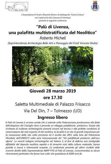 """Conferenza: """"Palù di Livenza una palafitta multistratificata del Neolitico  """""""