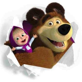 masha e orso foto da