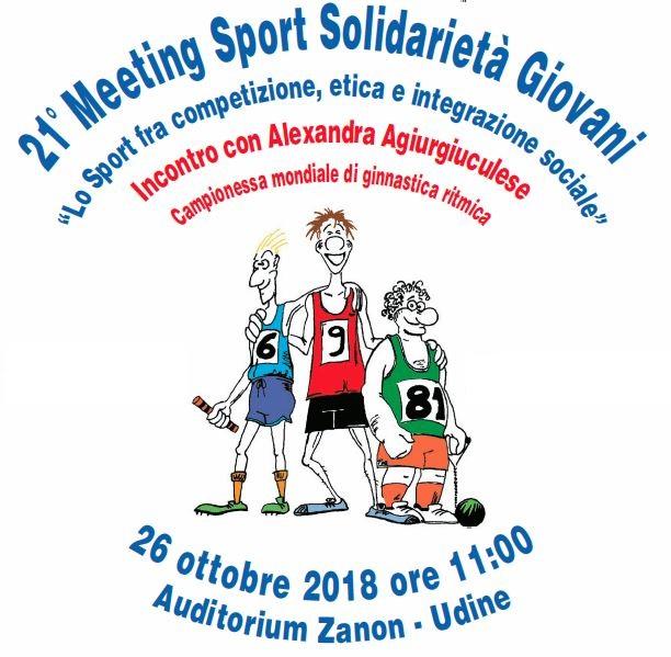 """21° Meeting """"Sport Solidarietà Giovani"""" – Incontro con Alexandra Agiurgiuculese"""
