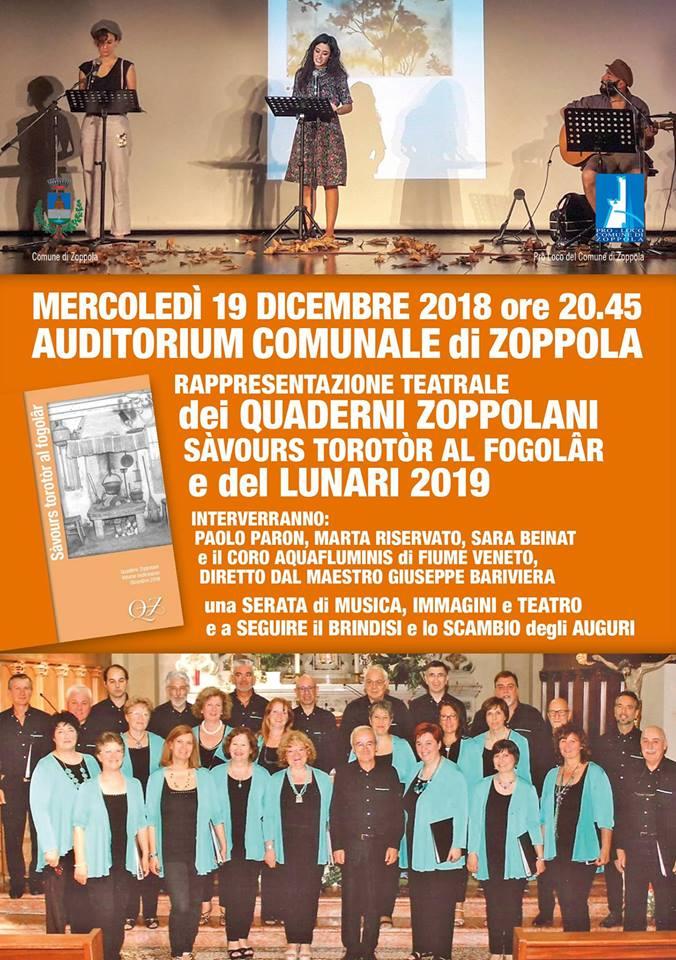 Presentazione Quaderni Zoppolani e Lunari 2019