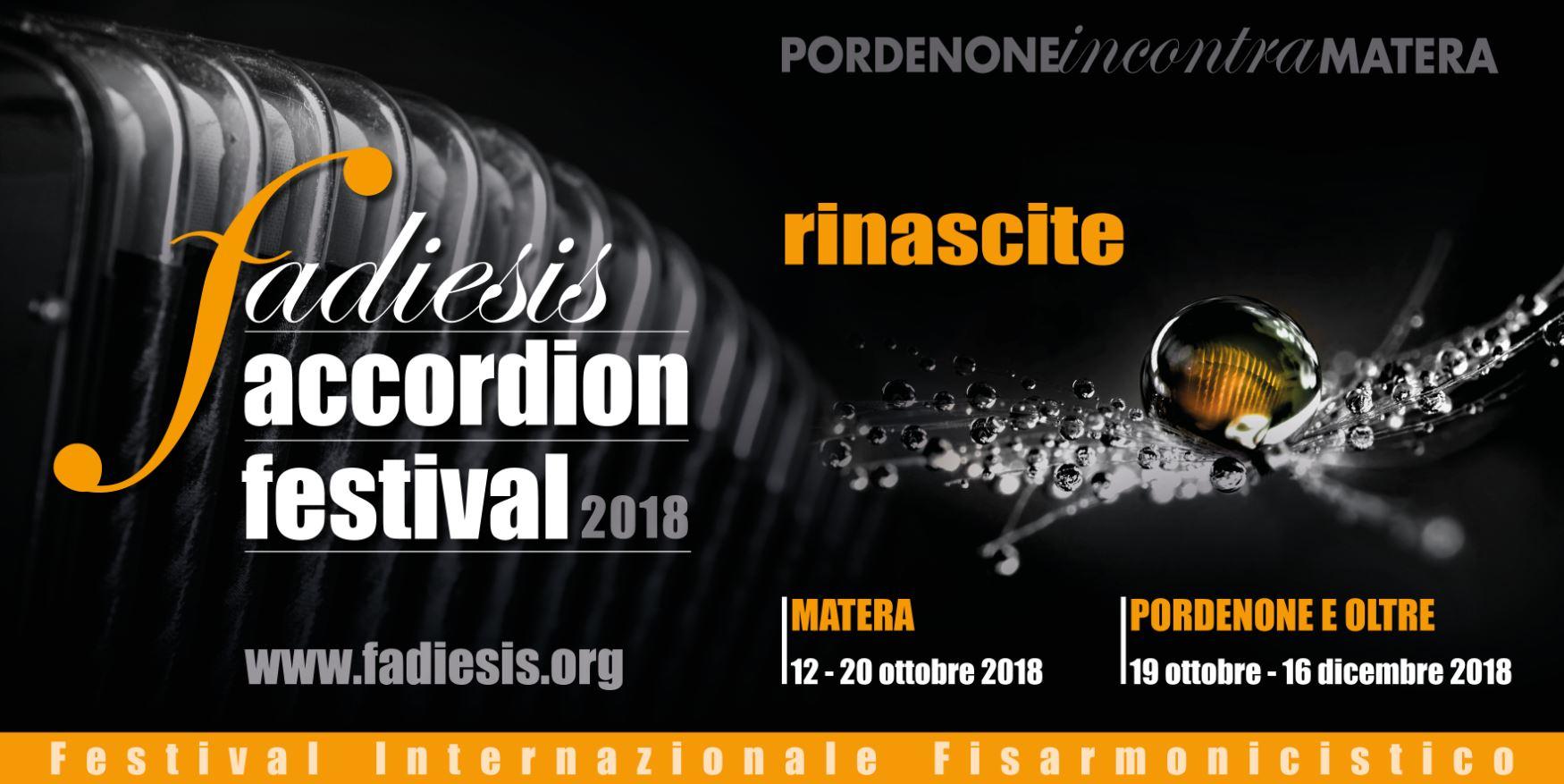 Fadiesis Accordion Festival 2018. Fisarmonica in viaggio: Musiche di migranti.