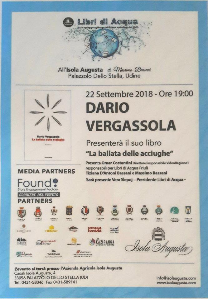 """Libri di Acqua presenta: Dario Vergassola con """"La ballata delle acciughe"""""""